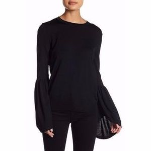 Philosophy Crewneck Bell Sleeve Sweater